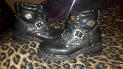 Womens Size 8 Gently Used Harley Davidson Riding Boots