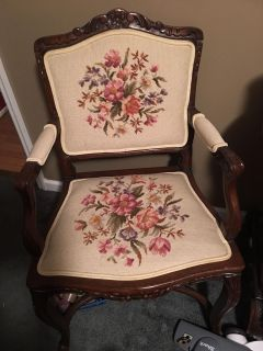 Beautiful antique needlepoint chair