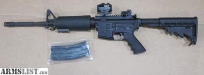 For Sale: Del-Ton AR15, factory built rifle, w/ red dot, NEW