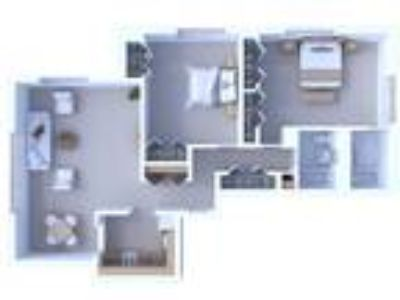 Oglesby Towers Apartments - Two BR Floor Plan B1