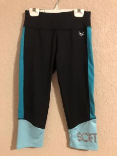 Justice SOFTBALL Black Active Sports Pants. Perfect Brand New Condition Size 12- FIRM