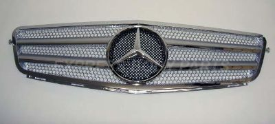 Purchase 2012 C63 STYLE W204 2008-2012 C300 C350 C250 GRILLE SILVER W/CHROME FRME 2 BAR motorcycle in North Hollywood, California, US, for US $168.00