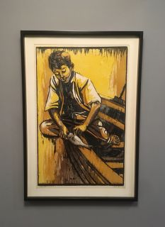 Large Signed, Framed Mid-Century Lithograph