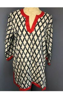 NWT TOP IT OFF TUNIC LIGHTWEIGHT COTTON BLOUSE, SIZE M
