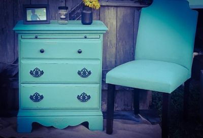 Nightstand and chair