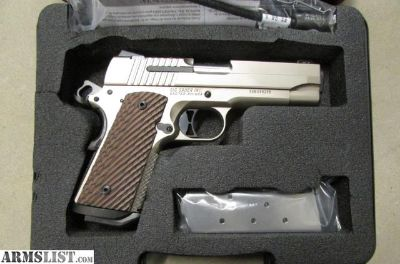 For Sale: 1911 CARRY NICKEL 45 SIG SAUER