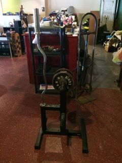Curl Bar and Weight Bar Stand