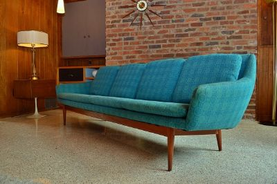 Original 1960's Danish Sofa by L.H. Hielle
