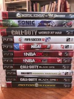 lot of 11 PS3 Games