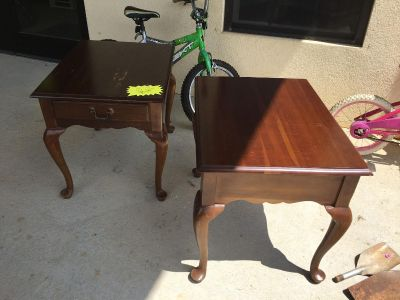 End tables SALE $20 for pair