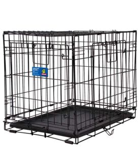 "24"" small-medium Top Paw Double Door Foldable Dog Crate"