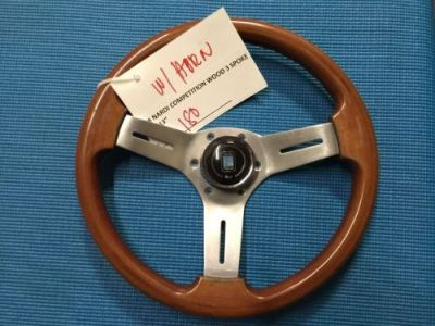 Sell Real !JDM Surplus Nardi Competition Wood STEERING WHEEL (128) motorcycle in West Covina, California, United States