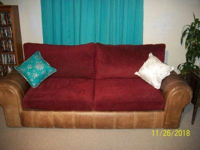 8' beautiful leather sofa