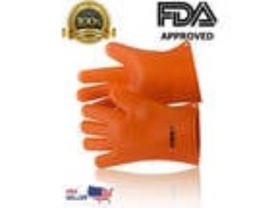 NEW Gloves Oven Silicone Heat Resistant Mitts Pot Holder BBQ