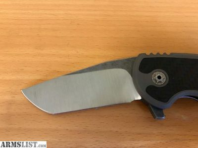 For Sale: Jake Hoback A10 Custom Knife with Carbon Fiber inlay