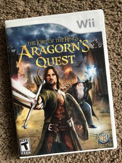 Nintendo Wii Game: LOTR Aragorn s Quest, GUC, includes booklet insert, $5. Porch pick up only.