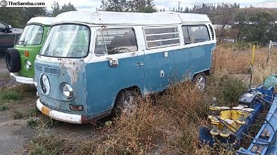 1969 Bay Westy Poptop Camper Neptune Blue project