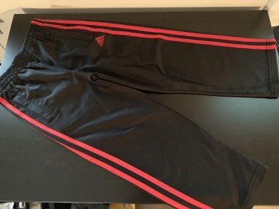 Adidas athletic pants, red and black size 5