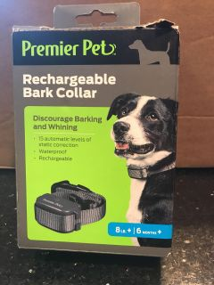 Premier Pet Rechargeable Bark Collar - was opened, but never used.
