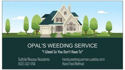 Opal's Weeding Service