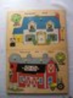 2 vintage Fisher Price Puzzles