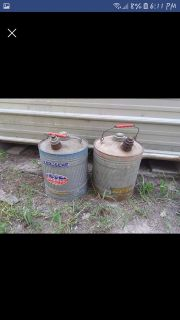 Antique gas cans