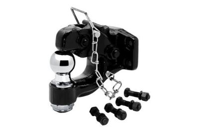 "Purchase Tow Ready 63011 - Black Pintle Hook 16000/3000 w 2"" Chrome Hitch Ball, Hardware motorcycle in Plymouth, Michigan, US, for US $77.76"
