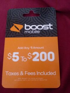 Boost mobile reboost card $15 selling for $12