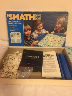 Vintage 1986 'SMATH Educational Board Game - Makes Math Fun