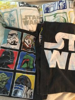 Star Wars sheets from target, guc, full/double size, fitted/flat sheets/2 pillowcases
