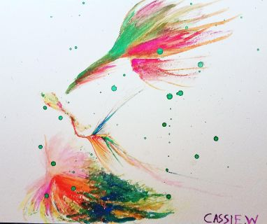 The Colorful Bird Modern Art Painting