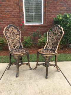 Set of Two Decorative Patio Chairs