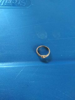 Gold ring with stone