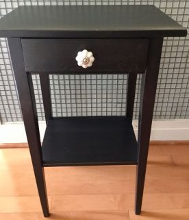 IKEA bedside table with unique drawer handle