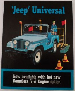 Find 1965 Jeep Universal Dauntless V-6 & Hurricane Engine Option Sales Brochure Kais motorcycle in Holts Summit, Missouri, United States, for US $17.65