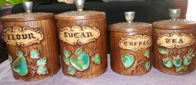 """Set of Cannisters $5 """"The Back Forty"""", Adel"""