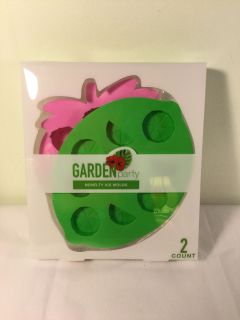 NWT Garden Party strawberry and lime novelty ice molds, retail $7.99