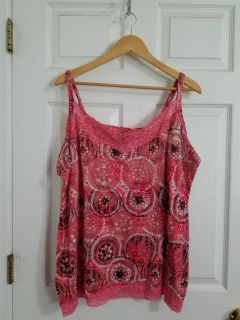 Adorable Pink Tank Top Size 3x GUC