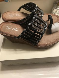Bling wedge shoes size 8