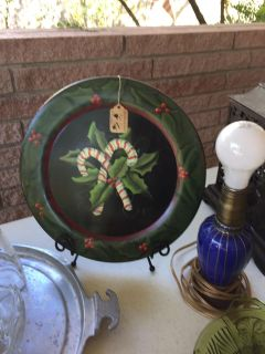 Christmas wood painted plate..swap only..no holds