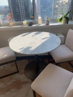 Bar/Dining Table, Marble Top