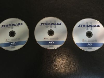 Star Wars Blu Ray! I, II, III ALL NEW WITHOUT CASES/ packages