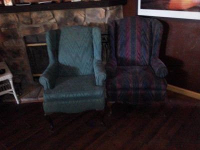 2 wing back chairs