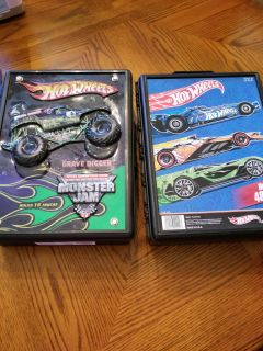 13 Hot wheels monster truck and cases