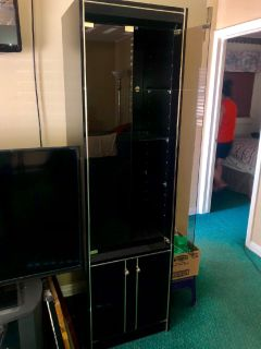 Entertainment cabinets and nightstands set