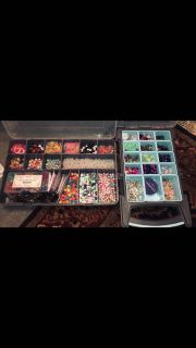 Huge set of beads/jewelry making items