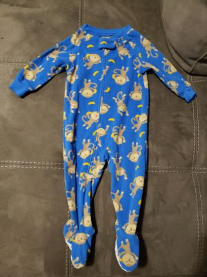 Cute Carter's Monkey Sleeper Size 6-9 Months. Excellent Condition