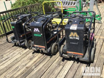 Lot of (3) Mi-T-M HSP-3004-3MGH Pressure Washers