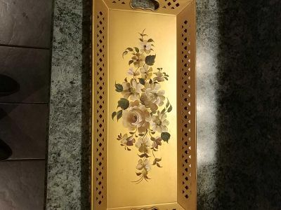 Hand-painted collectible tray
