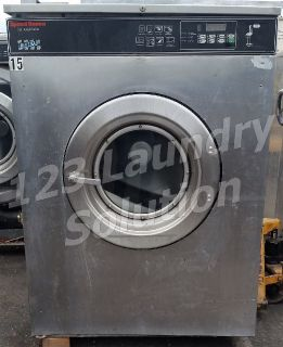 Fair Condition Speed Queen Commercial Front Load Washer 80LB 3PH SC80NCVQP60001 Used